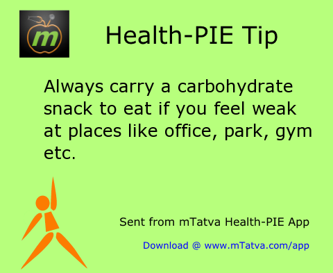 always carry a carbohydrate snack to eat if you feel weak at places like office 84.png
