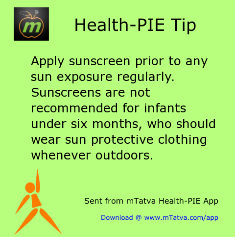 apply sunscreen prior to any sun exposure regularly sunscreens are not recommended for infants under 35.png