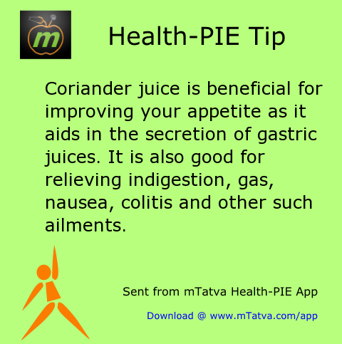 coriander juice is beneficial for improving your appetite as it aids in the secretion of 202.png