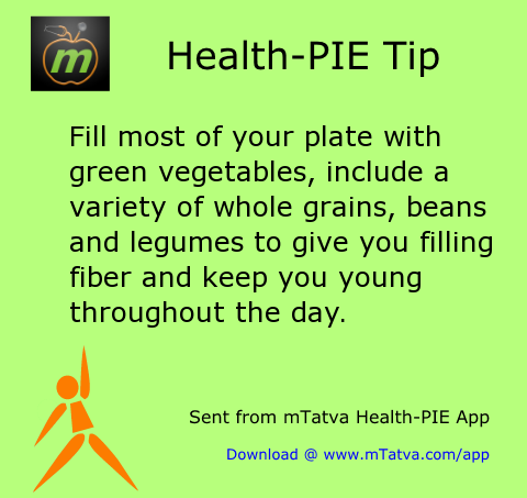 fill most of your plate with green vegetables include a variety of whole grains beans 42.png