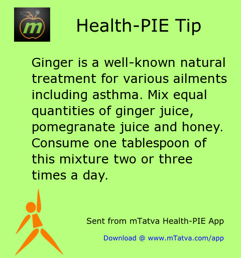 ginger is a well known natural treatment for various ailments including asthma mix equal quantities 175.png