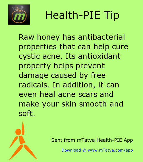 raw honey has antibacterial properties that can help cure cystic acne its antioxidant property helps 166.png